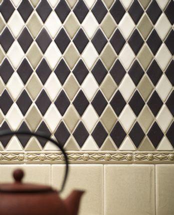 Harlequin tile backsplash